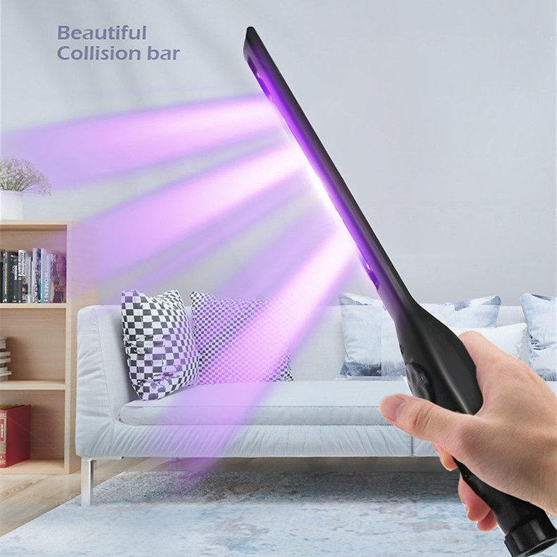 Household UV Disinfection Stick LED Sterilizer Wand Germicidal Lamp Bacteria Killer Disinfection Light black