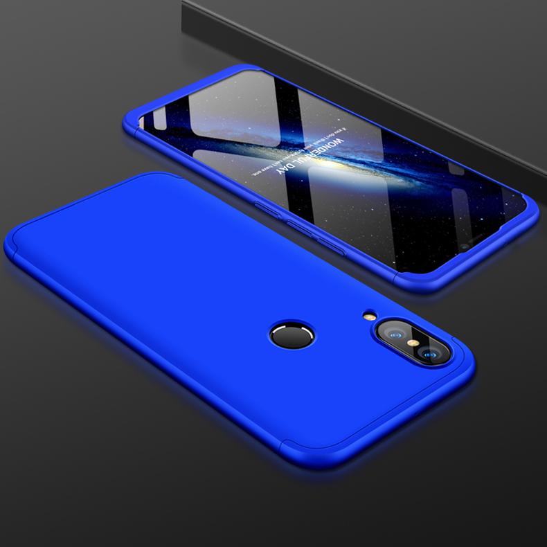 For HUAWEI NOVA 3 3 in 1 360 Degree Non-slip Shockproof Full Protective Case blue