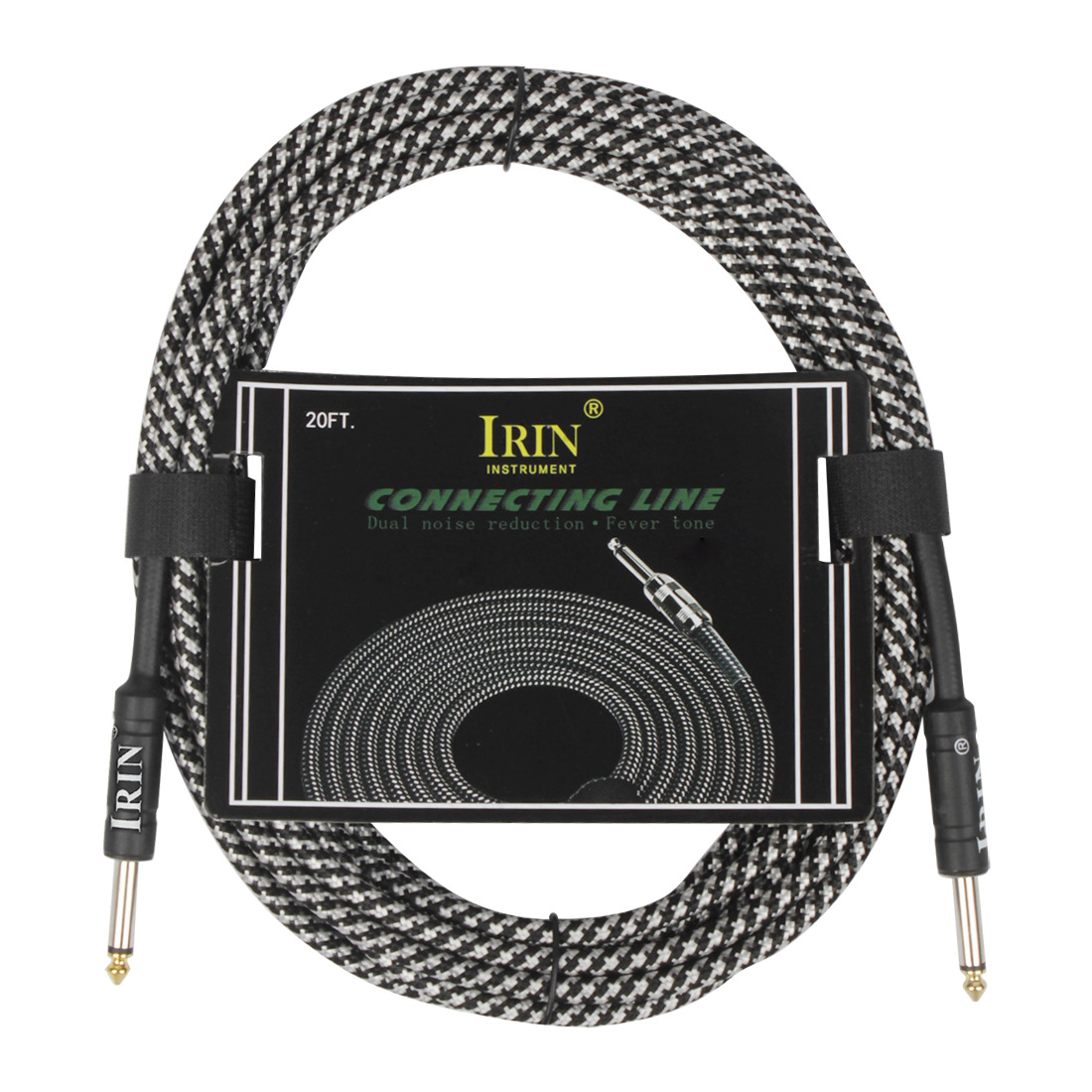 6M Cable Guitar Connecting Line Musical Instrument Accessories White 6 meters