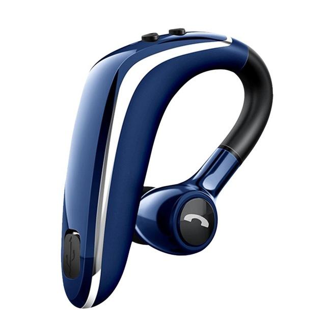 Wireless Earphone Bluetooth 5.0 Headset Long Standby Business Driving Hanging Ear Headset IPX4 Waterproof Sports Headphone blue