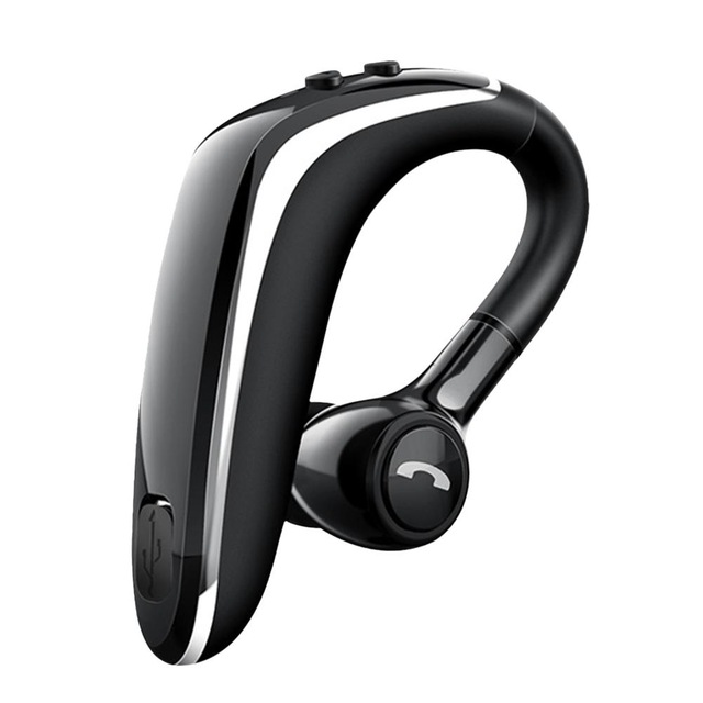 Wireless Earphone Bluetooth 5.0 Headset Long Standby Business Driving Hanging Ear Headset IPX4 Waterproof Sports Headphone black