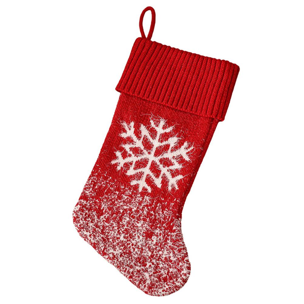 Christmas  Stocking Christmas Tree Snowflake Elk Kids Gift Candy Bag For Christmas Decorations Snowflake