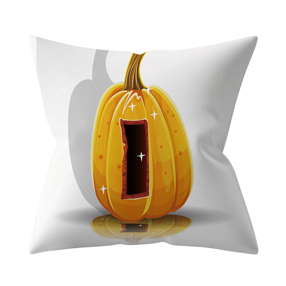 Halloween Series Letter Printing Throw Pillow Cover for Home Living Room Sofa Decor I_45*45cm