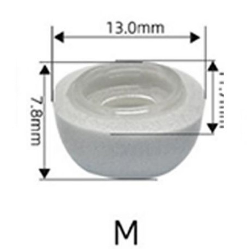 Memory Foam Replacement Ear Tips Earbud Earphone Cap For Apple Airpods Pro Headphones white_M