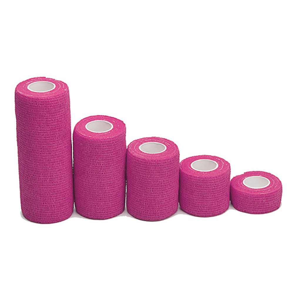 5cm*4.5m Non-woven Fabric Self-sticking Sports Tape Volleyball Finger Guard Basketball Ankle Knee Guard Bandage Pink_5cm*4.5m