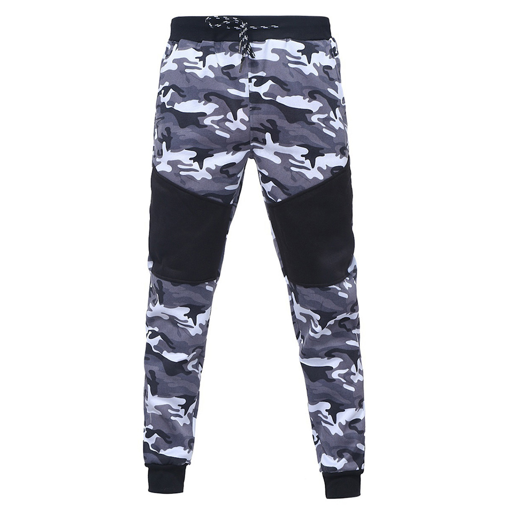 Men Camouflage  Sports Trousers - Gray M