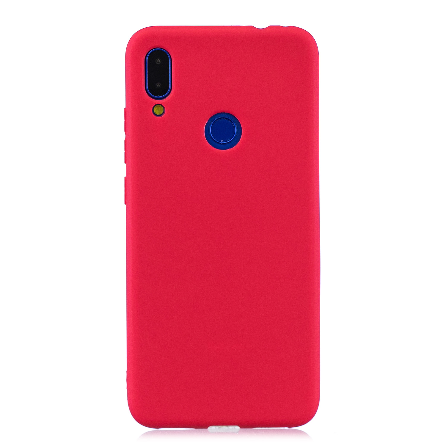 For Redmi 7 Lovely Candy Color Matte TPU Anti-scratch Non-slip Protective Cover Back Case red