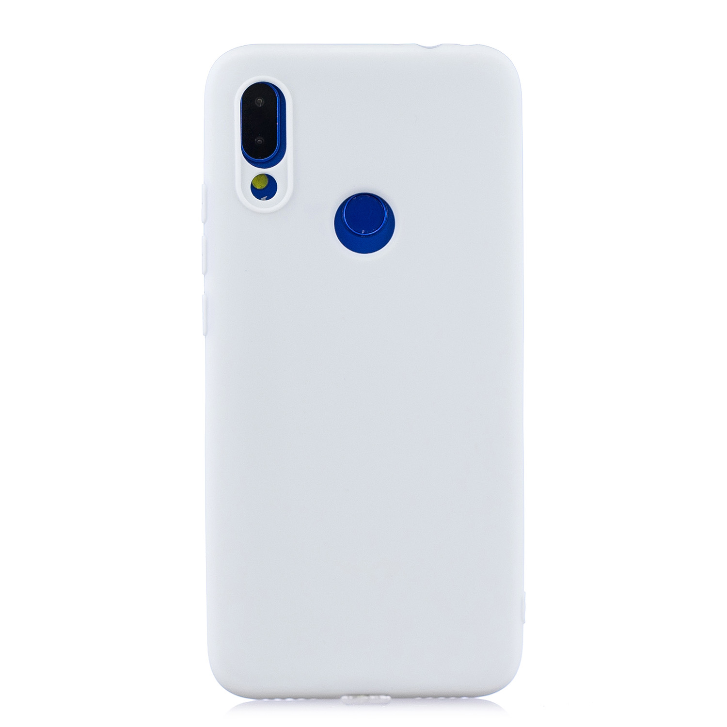 For Redmi note 7 Lovely Candy Color Matte TPU Anti-scratch Non-slip Protective Cover Back Case white
