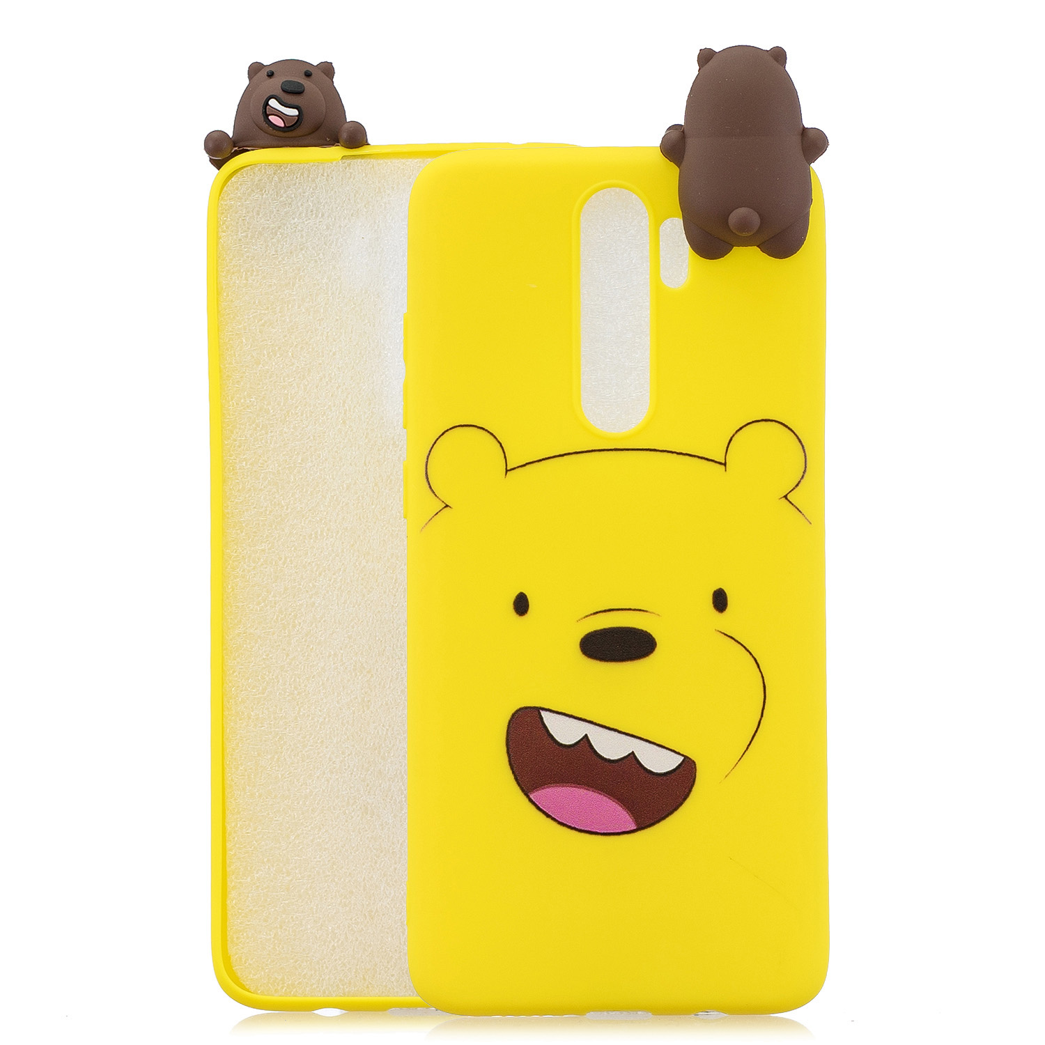For Redmi NOTE 8 NOTE 8 pro 3D Color Painting Pattern Drop Protection Soft TPU Back Cover Mobile Phone Case yellow