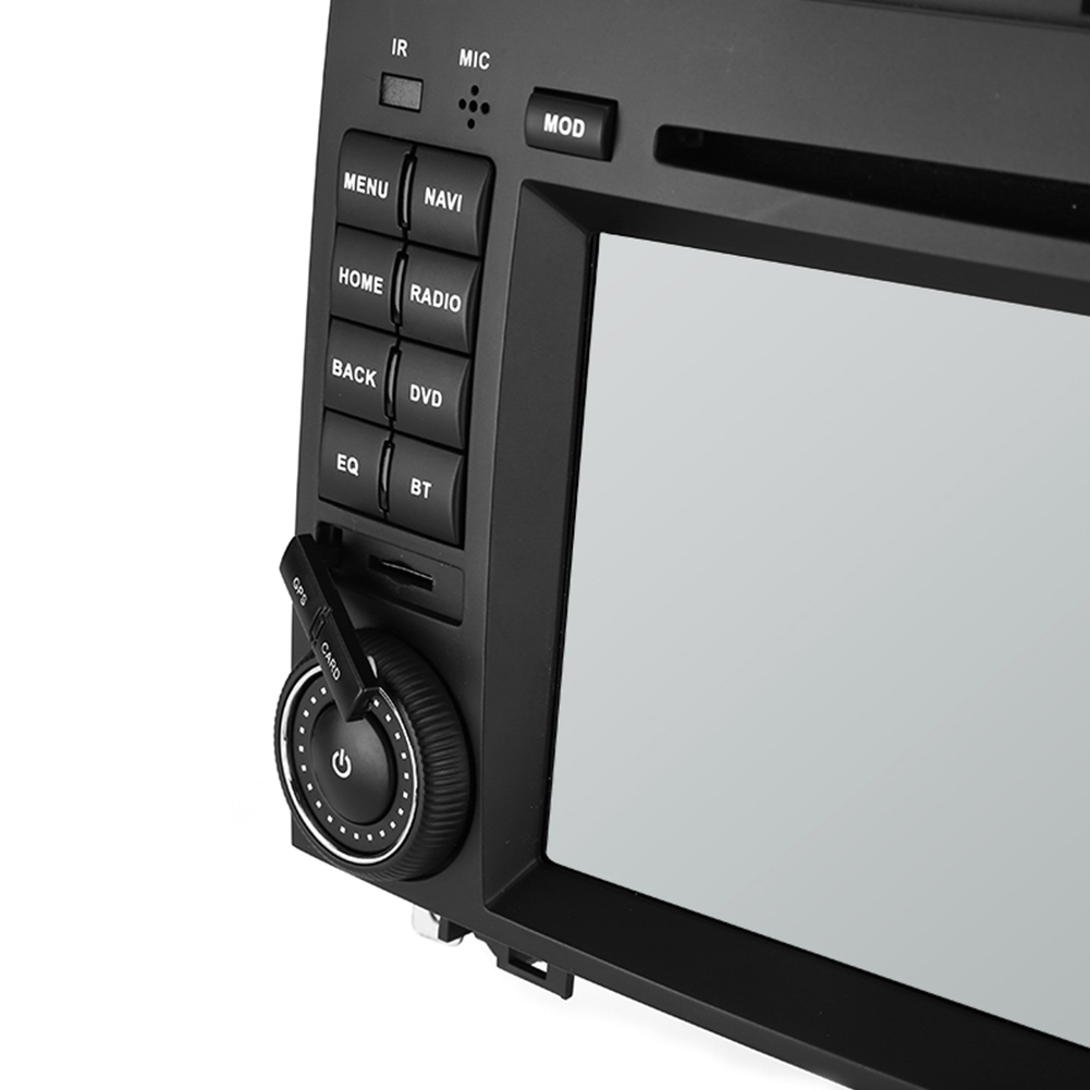 WSD2025 Dual-DIN Car DVD Player - 7 Inch Display, Android 8.0, Rockchip PX5 - For Mercedes-Benz B200 (Model: 2004-2012)