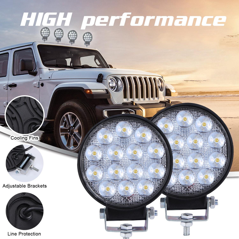 4inch Round Super Slim 140w Spotlight Led Work Light Driving Fog Lights