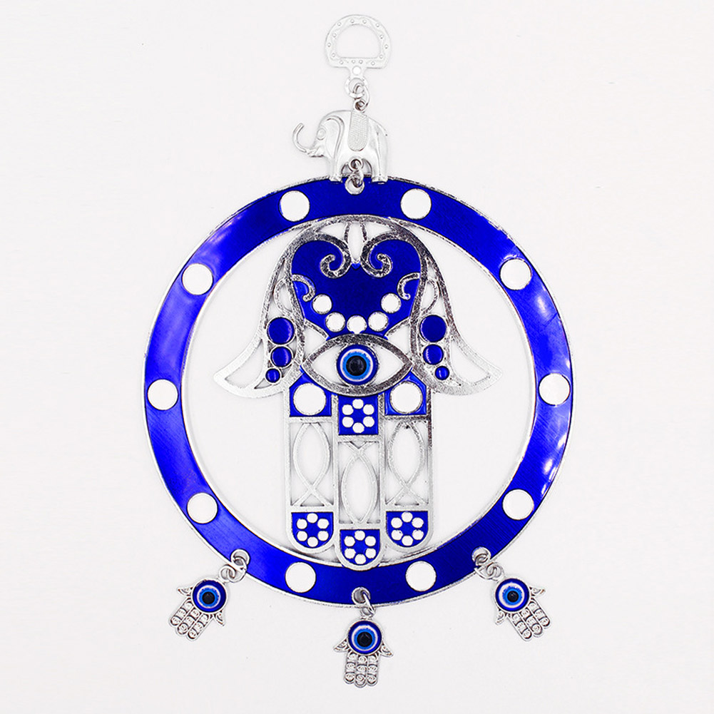Turkish Blue/Red Eye Hanging Pendant Lucky Charm Wall Blessing Protection Art Home Decor blue