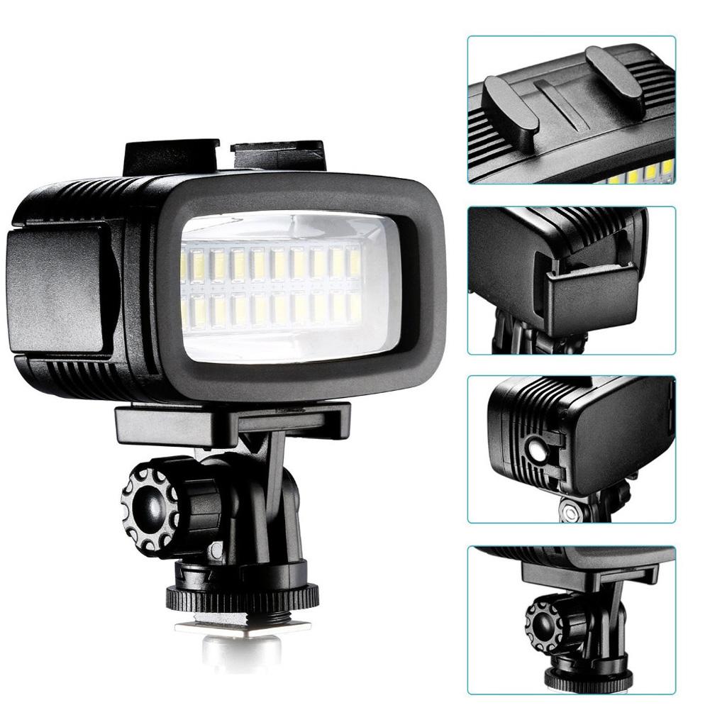 Underwater LED Lighting Lamp for GoPro Hero Motion Camera Supplementary LED Lighting Black