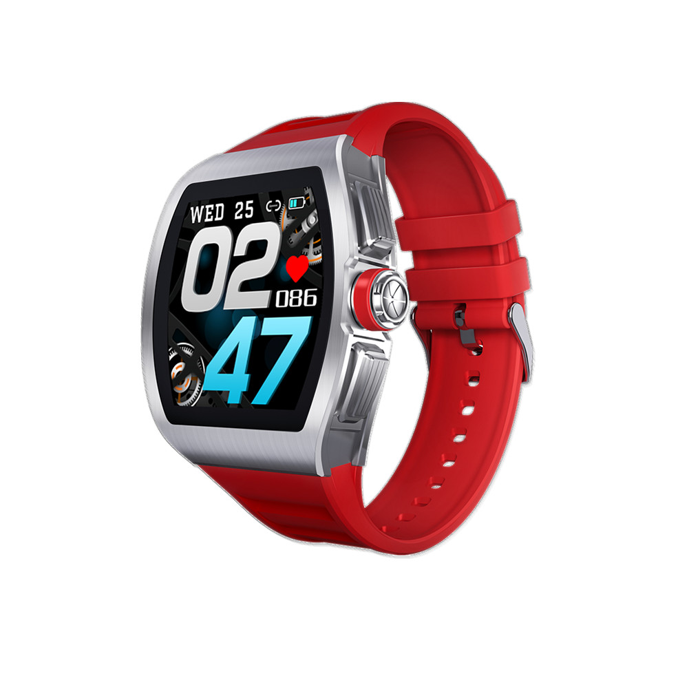 M1 Business Smart Watch Man Waterproof Smartwatch Heart Rate Blood Presssure Monitor Sports Track Clock red