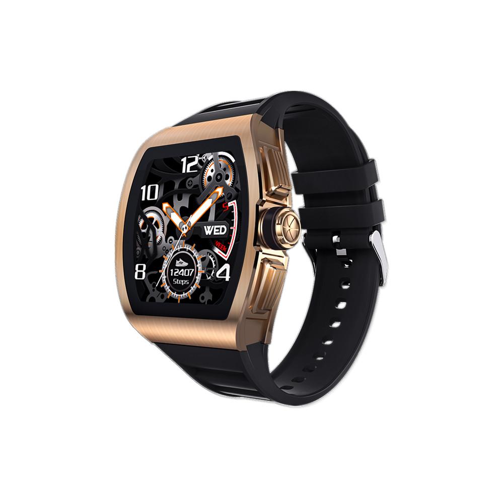 M1 Business Smart Watch Man Waterproof Smartwatch Heart Rate Blood Presssure Monitor Sports Track Clock Golden