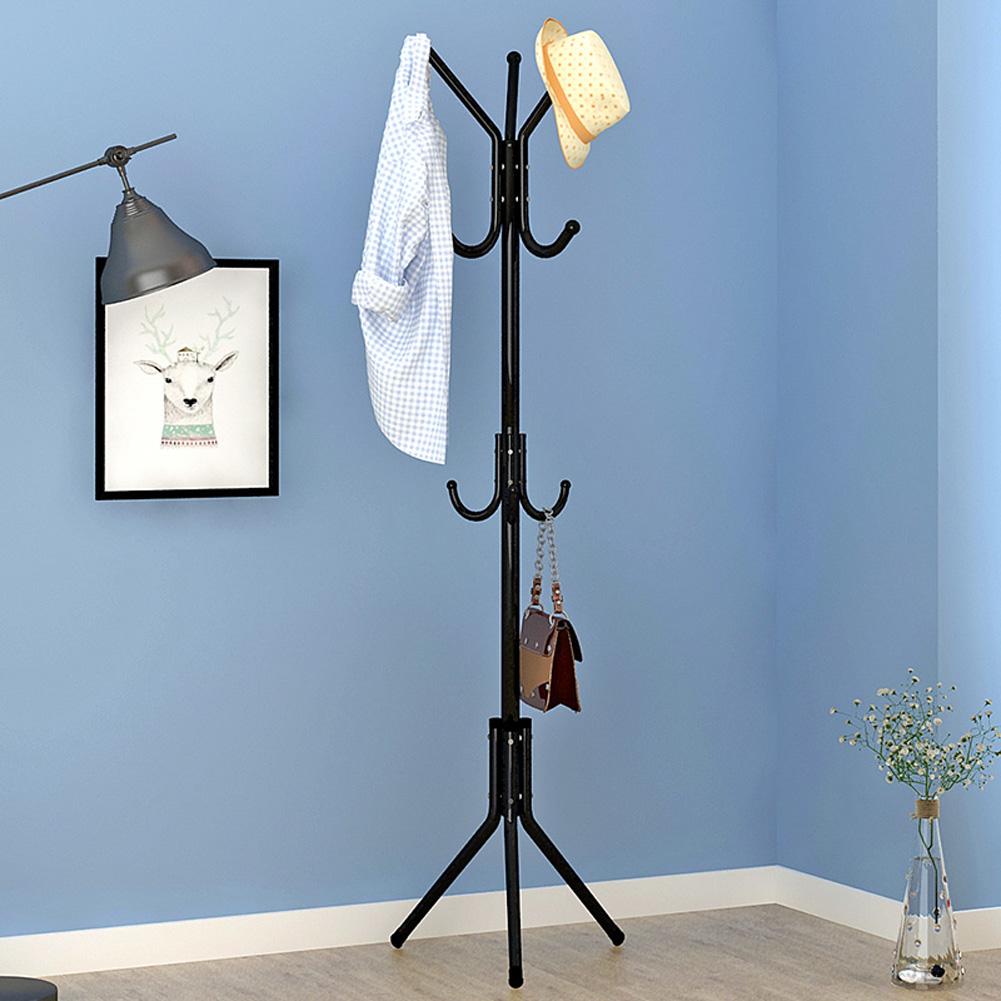 Metal Coat Rack Assembled Living Room Hat Clothing Display Stand Home Furniture 43*43*172cm black_HBY906S