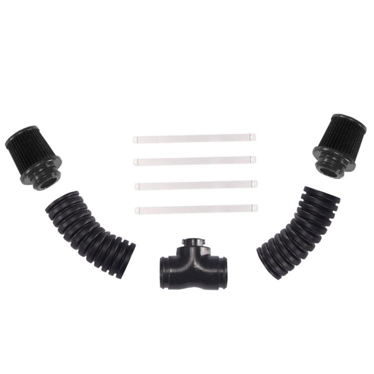 Universal V8 Engine Cover Radiator Fan for Simulate Trx4 Corvette LS3 Double head tube