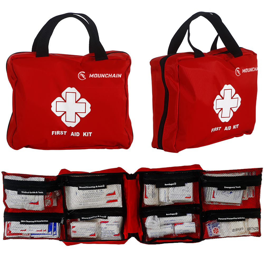 Mounchain First Aid Red First Aid Kit(Zipper