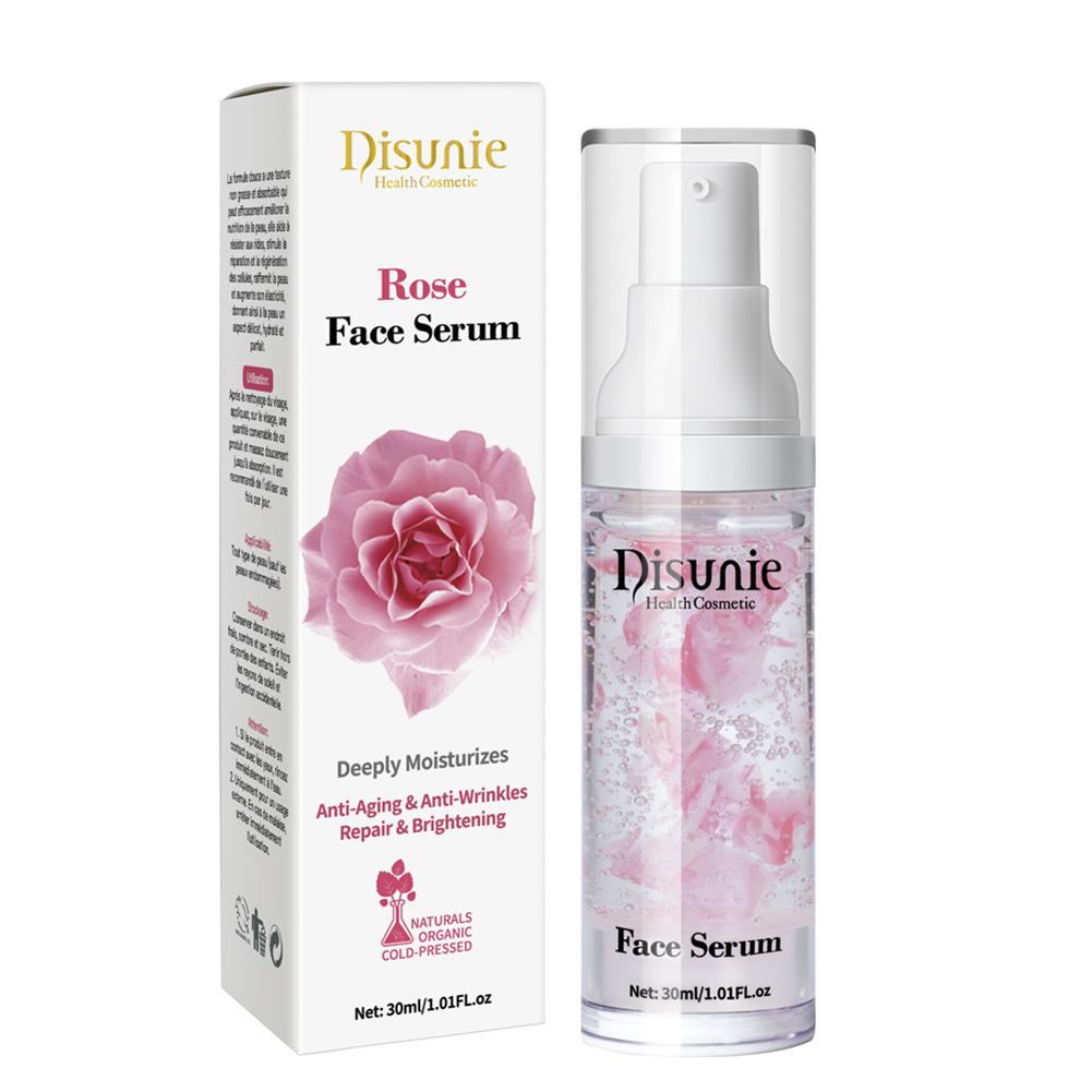 Rose  Essence Face Serum Plant Extract Face Moisturizing Resist Oxidation Whitening Anti-aging Serum Skin Care 30ML rose petals