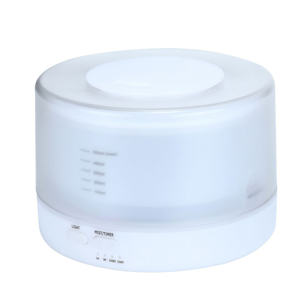 500ml ultrasonic humidifier Household Air Humidifier Colorful Lights Air Purifying Mist Maker white_European regulations