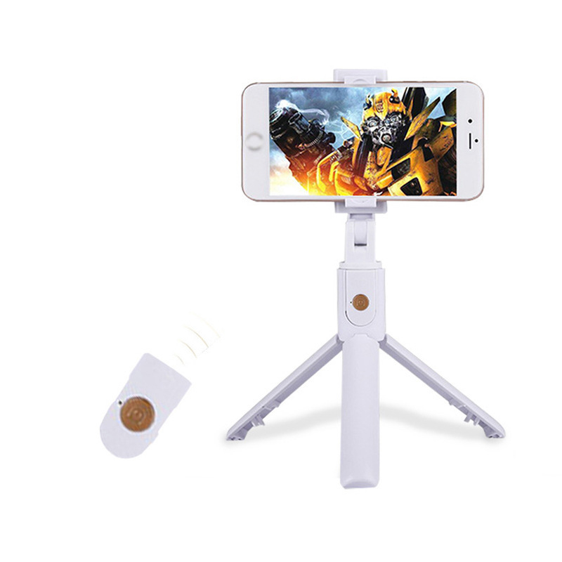 3 in 1 Wireless Bluetooth Selfie Stick Foldable Handheld Monopod Shutter Remote Extendable Mini Tripod for iphone/Android/Huawei  black