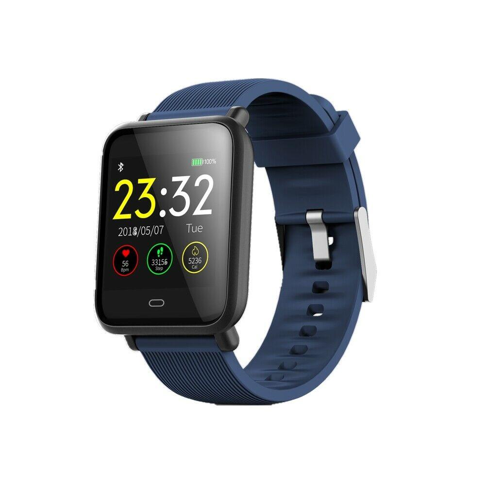 Q9 Smart Watch Blood Pressure Heart Rate Monitor Fitness Waterproof Bracelet blue
