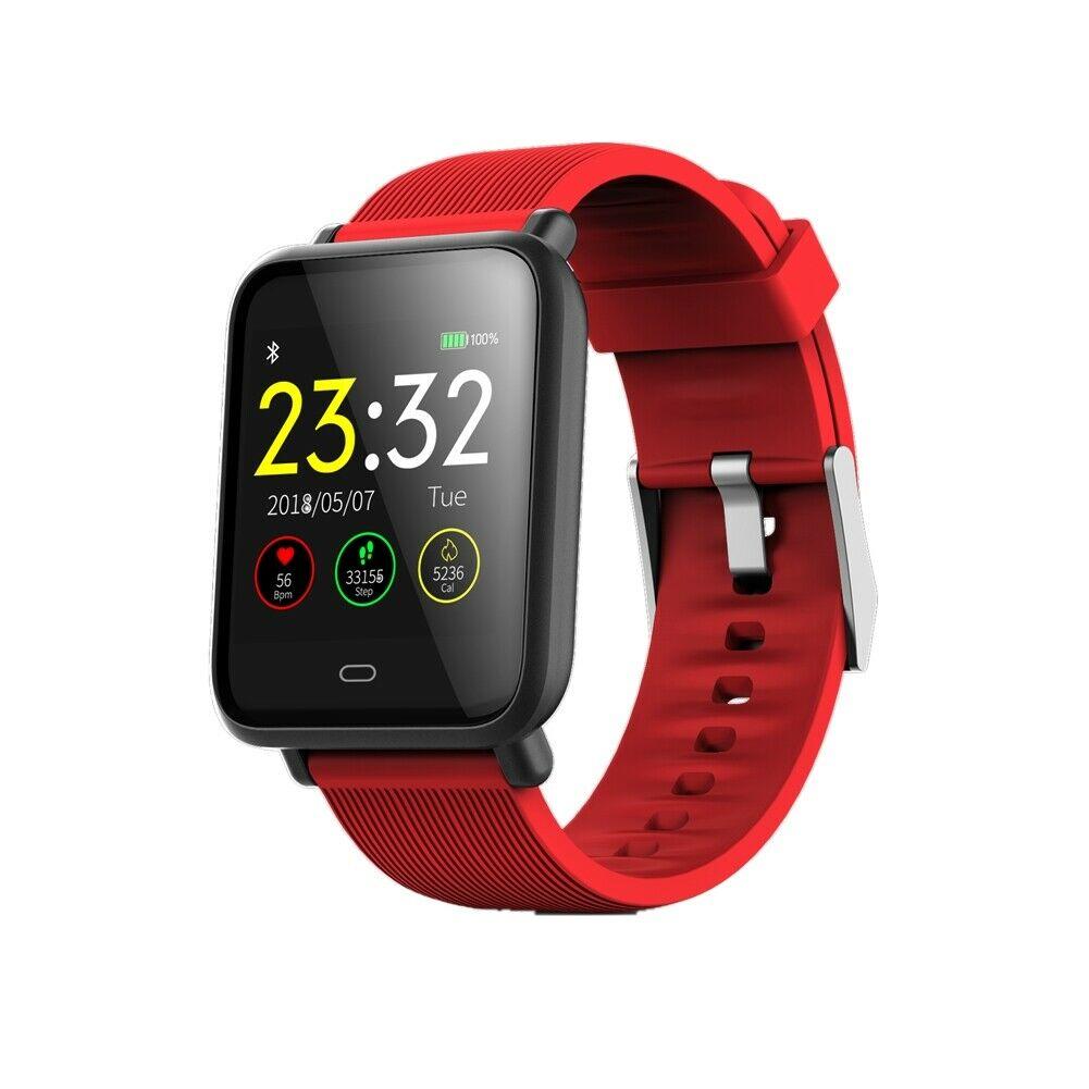 Q9 Smart Watch Blood Pressure Heart Rate Monitor Fitness Waterproof Bracelet red