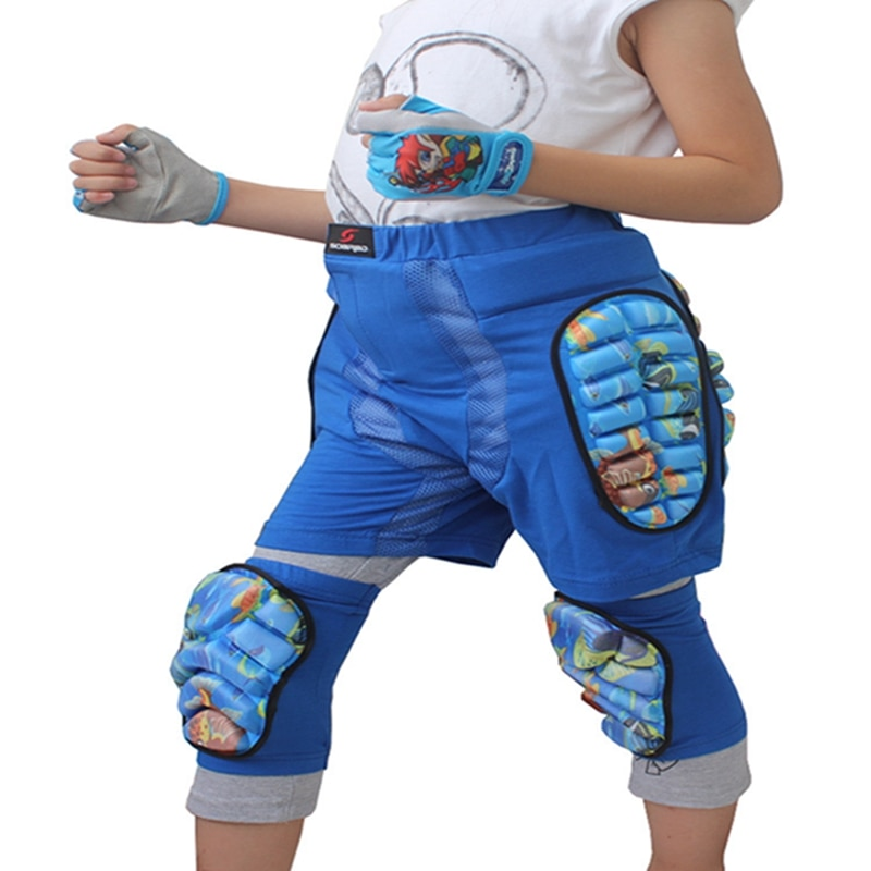 Mounchain Kids Boys Girls 3D Protection Hip Paded Short Pants Protective Gear Guard Pad Ski