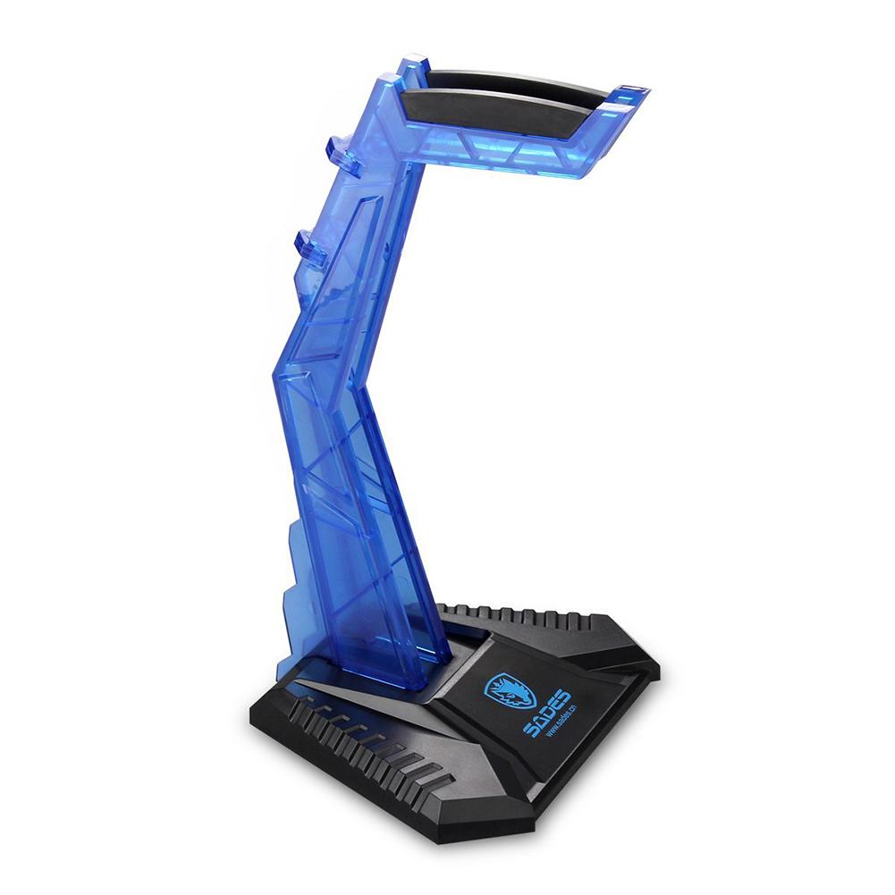 Universal Gaming Headphone Cradle Head-mounted Headset Bracket Stand Hanger blue