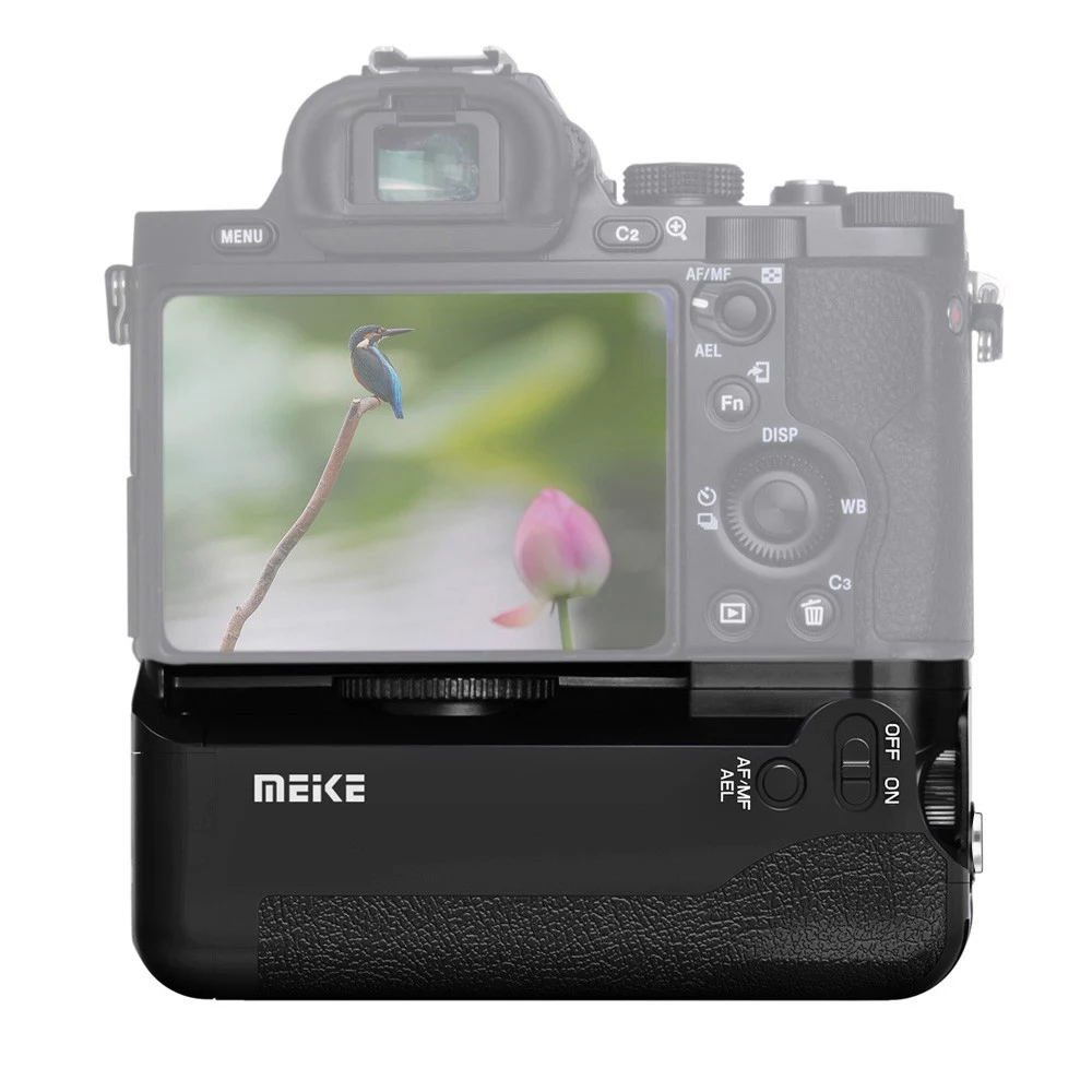 MK-AR7 Built-in ABS Wireless Remote Control Vertical Battery Grip Holder for Sony A7 A7r A7s black