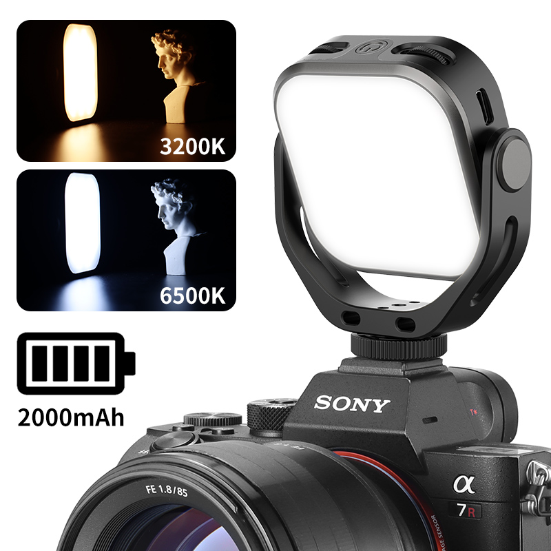 VIJIM VL 66 Dual Color Temperature Fill Light DSLR Camera Photography Light 360-degree Rotating Light black