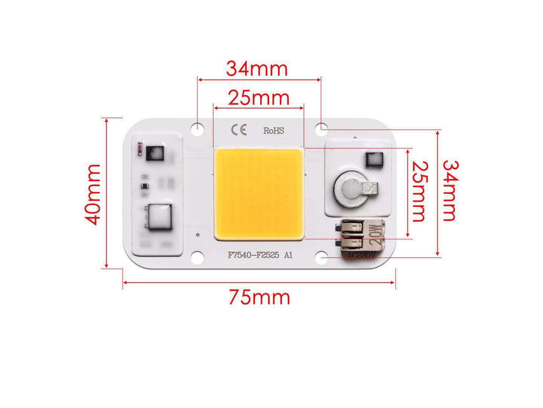20W/30W/50W Led Bulb Welding Free Light Source 220v Aluminum Substrate Light Bead 20 watt white 220V