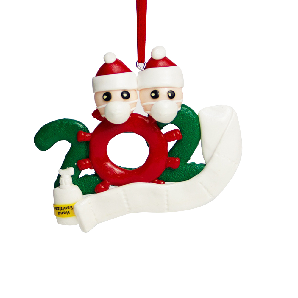 Personalized Name Christmas Ornament kit with Mask for Family Christmas Decor 2 snowmen