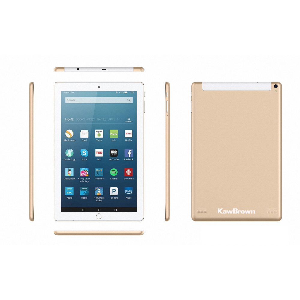 Kawbrown 10 Inch Tablet 1RAM 16GB Gold