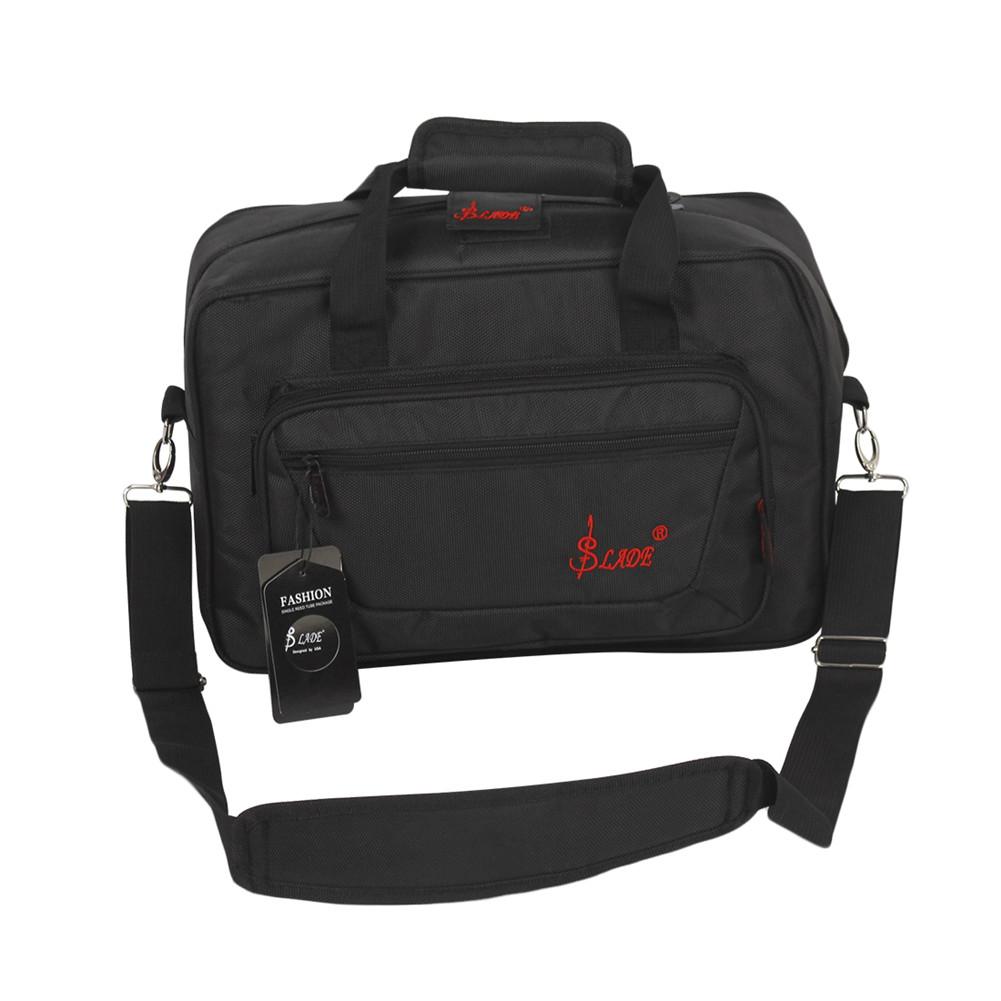 Universal Oboe Clarinet Carrying Bag Backpack Case Soft Clarinet Bag Sponge Padding with Shoulder Strap black