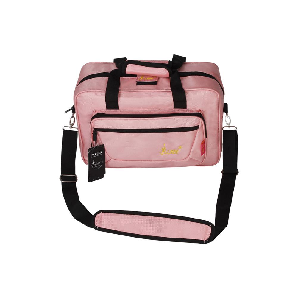 Universal Oboe Clarinet Carrying Bag Backpack Case Soft Clarinet Bag Sponge Padding with Shoulder Strap Pink