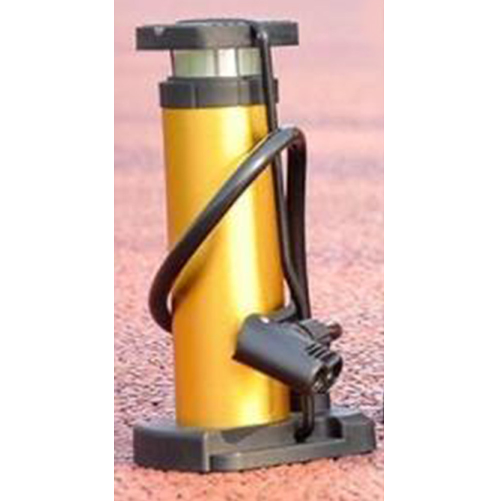 Bike Pump Mini Bike Floor Pump Foot Activated Bicycle Air Pump and Aluminum Alloy Portable Mountain Tire Pump  Gold_One size