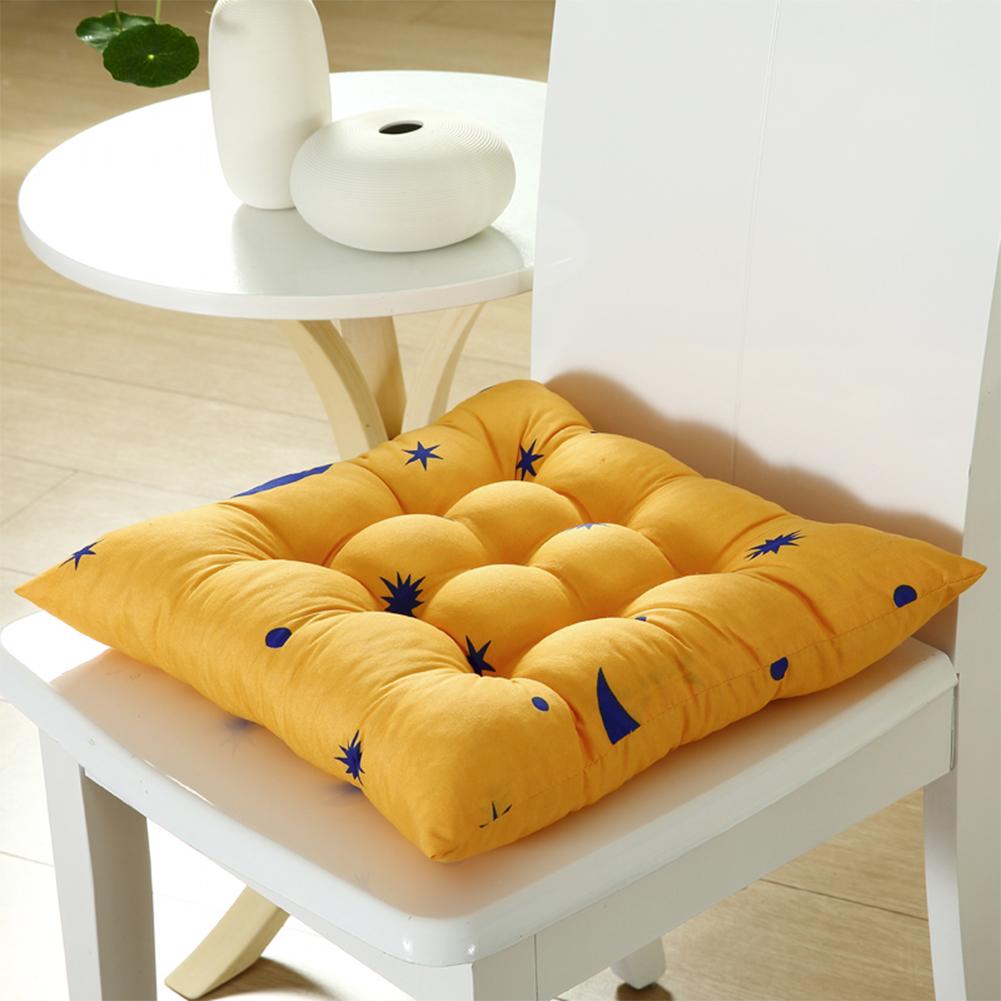 Stars Moon Printing Chair Cushion Seat Pad with Cotton Filling 40X40CM Orange