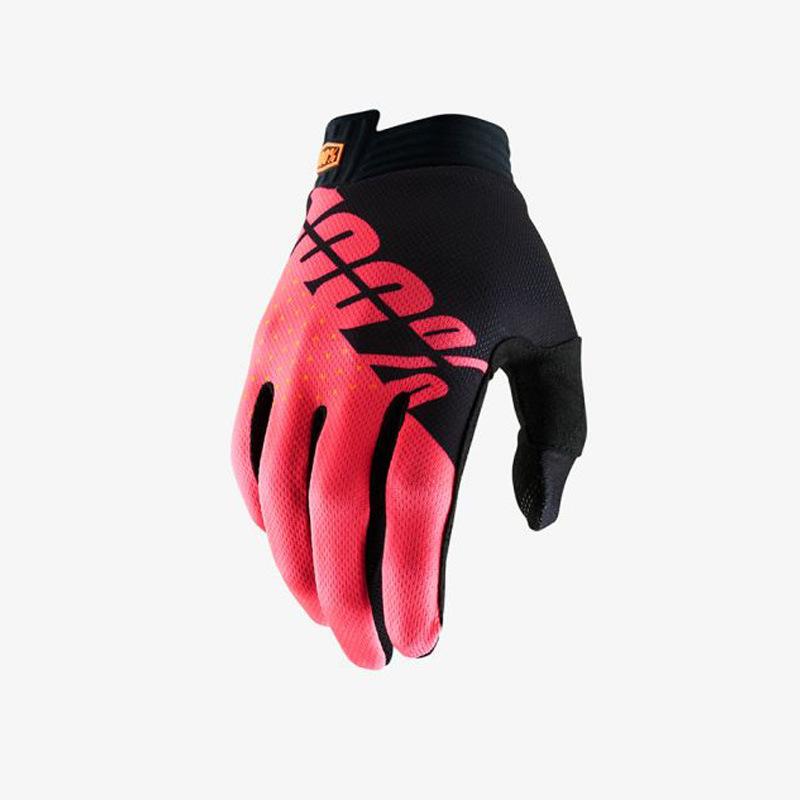 Motorcycle Gloves Mountain Bike Racing Glove Locomotive Delicate Motorsport MTB Bike Motorcycle Gloves red Letter_L