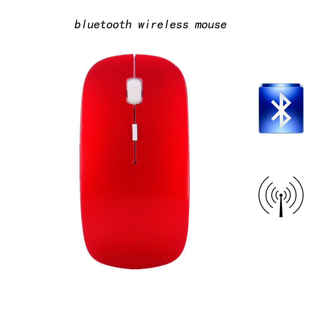 2.4G Mini Portable Laptop Computer Wireless Four-way Roller Game Mouse Bluetooth Office Business Mouse red_2.4G wireless + Bluetooth