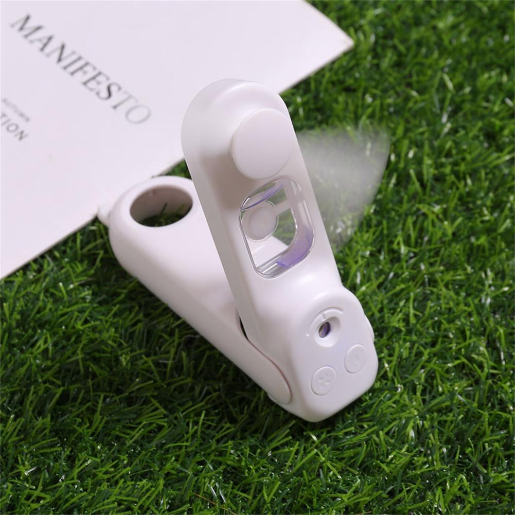 Usb Pocket Folding Fans Electric Portable Household Humidifier Desktop Electric Fan White