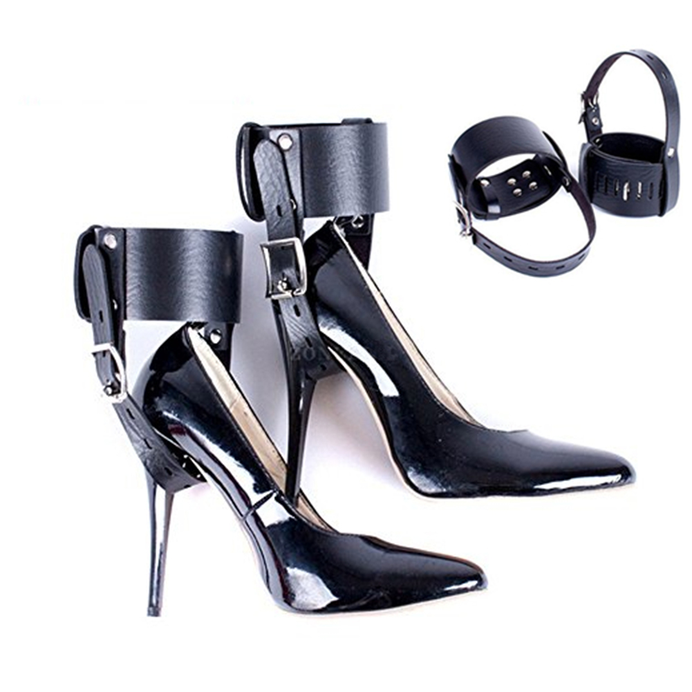 Feet Locking Restraint Ankle Belt Sex Toy for High-Heeled Shoes Straps for BDSM Female one size