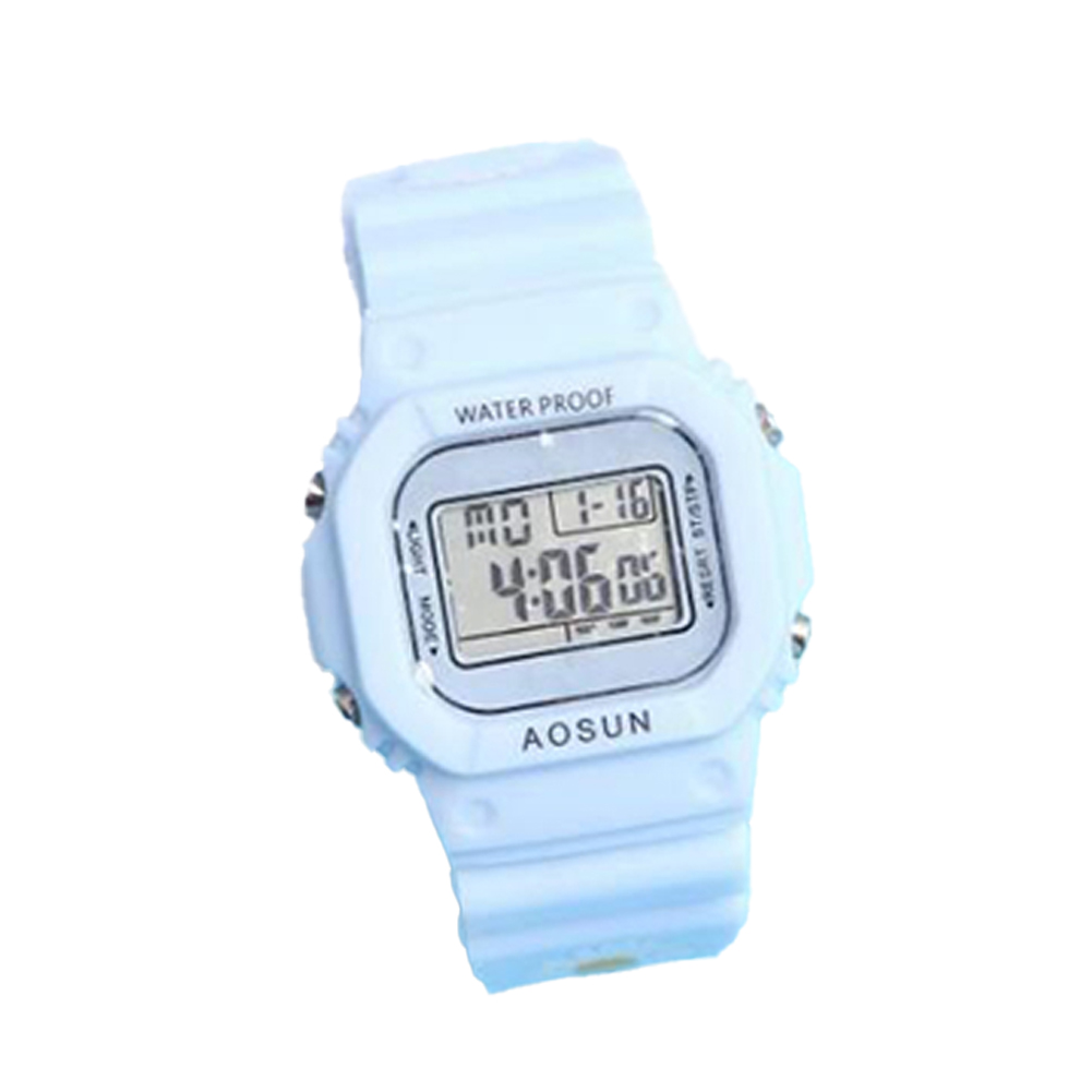 Electronic Watch Small Daisy Luminous Silicone Led Watch Watch blue