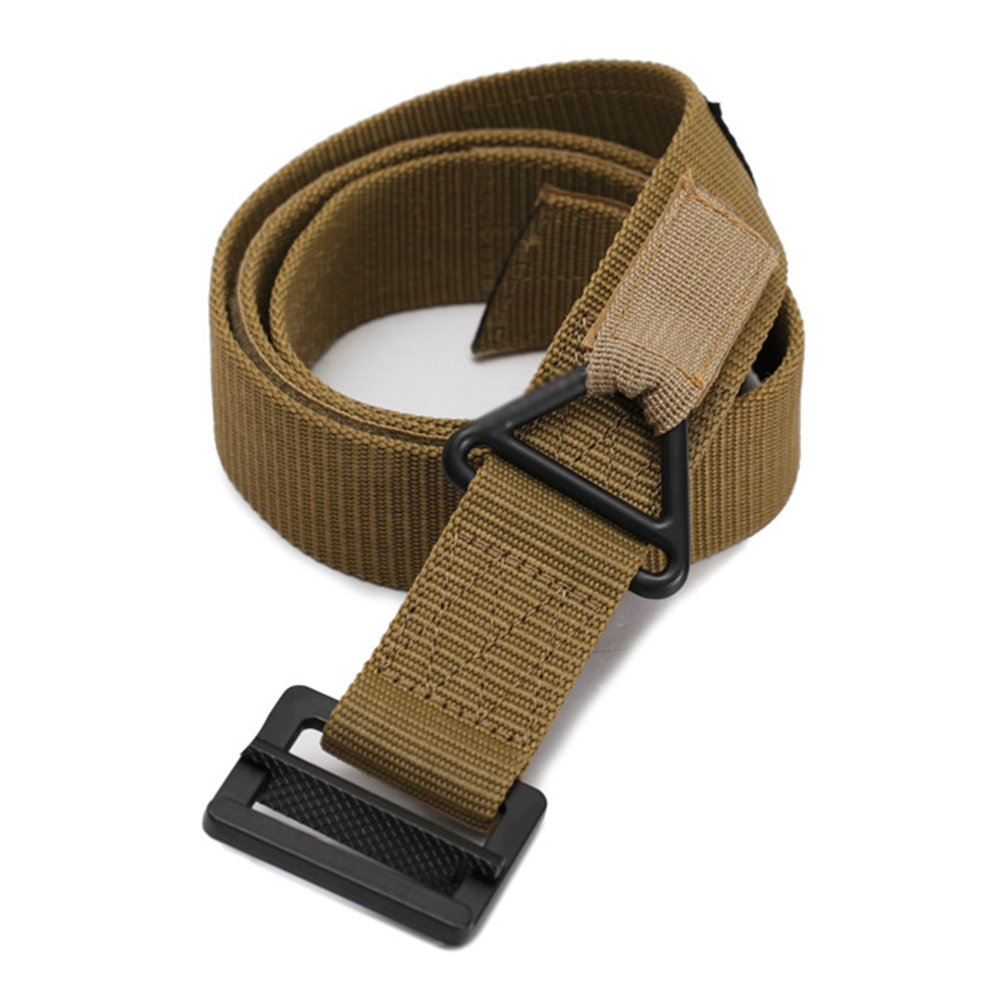 Men Women Sports Nylon Belt Outdoor Rescue Sagging Belt Khaki_100-130CM