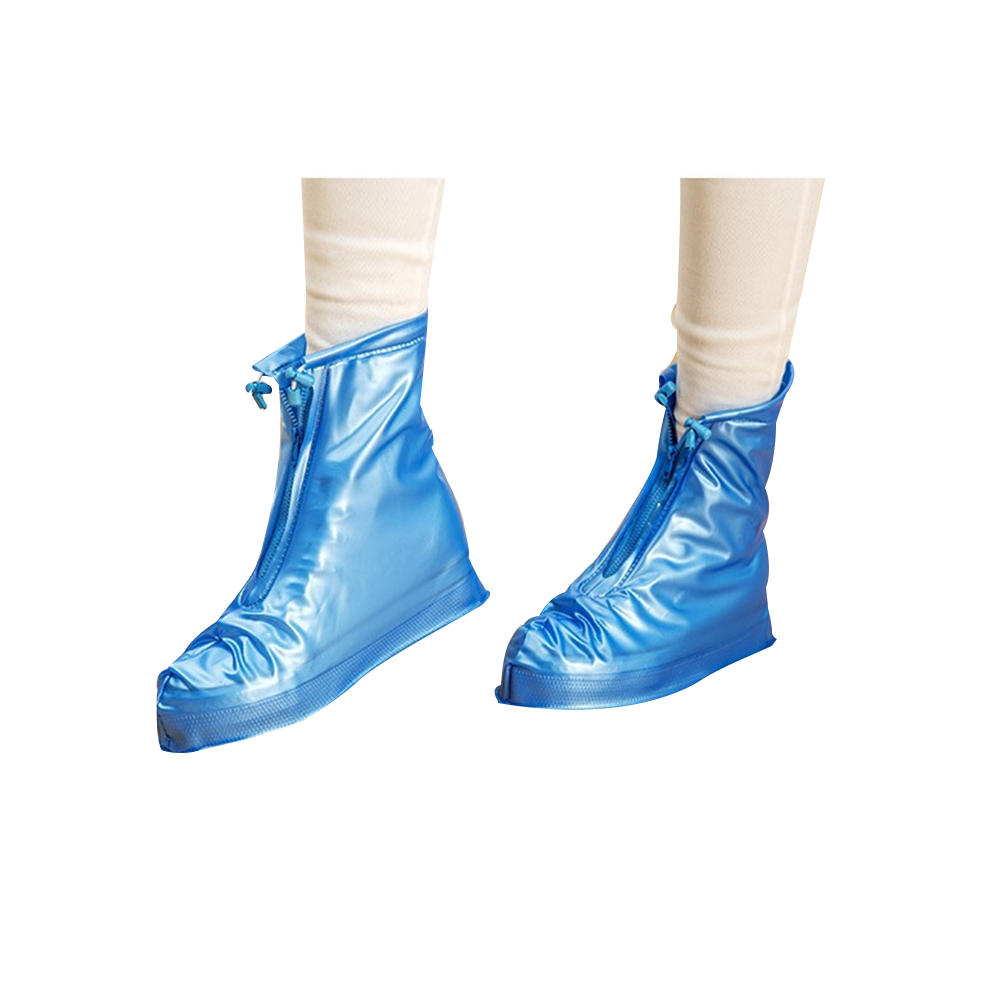 Men Women Portable Rain Gear Boots Snow Shoe Covers Waterproof Thicken Shoes Overshoes blue_3XL
