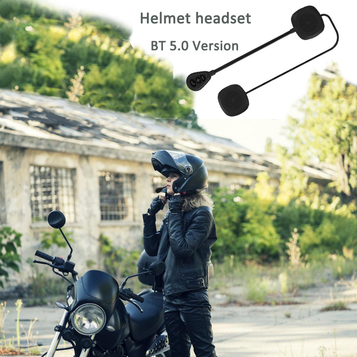 MH05 Bluetooth 5.0 Motorcycle Bluetooth Helmet Headset Low Energy Stereo Handsfree Helmet Headset black