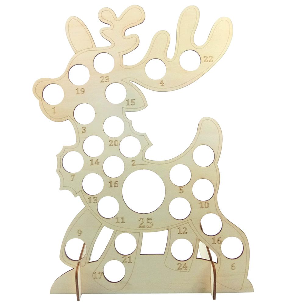 Christmas Wood Countdown Board Calendar Reminding Card Chocolate Display Rack JM01731
