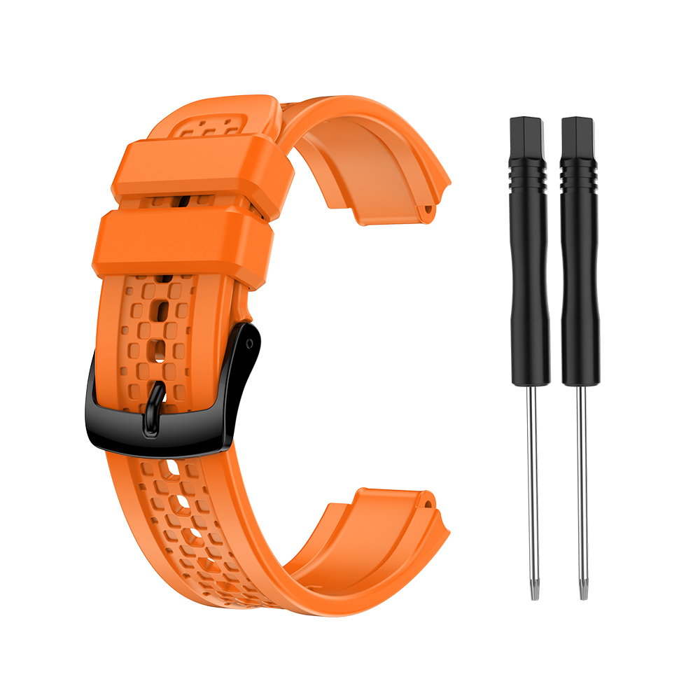 Women's Silicone Wristband Large Size Replacement Wristband for Garmin Forerunner 25 Orange
