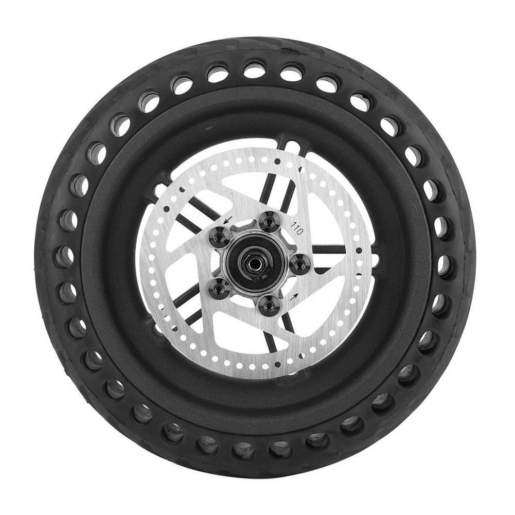 Electric Scooter Tire Kit Scooter Accessories for Xiaomi M365 8.5 inch honeycomb explosion-proof tire rear wheel with hub + disc brake disc