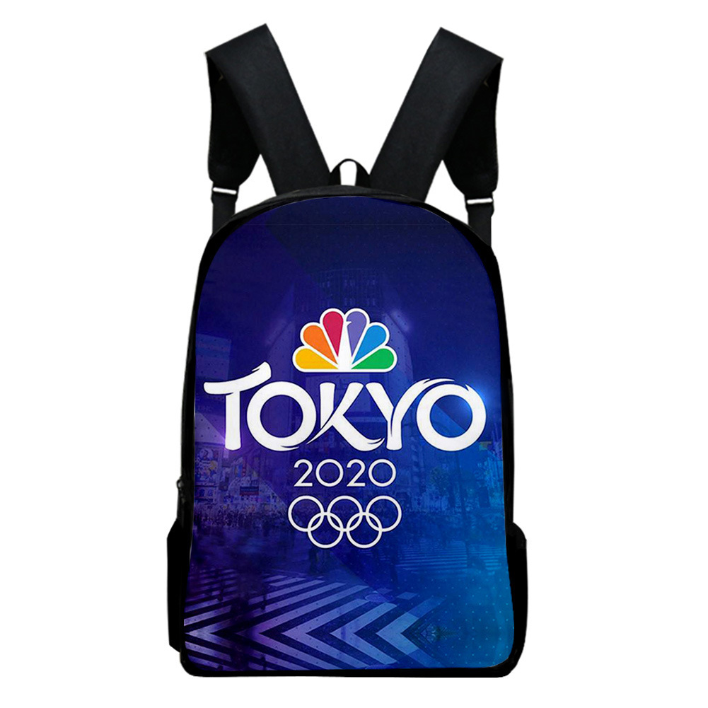 Sports Backpack Man Woman Shoulders Bag 2020 Tokyo Olympics Print Casual Bags Y_Free size